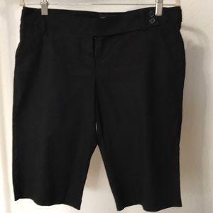The Limited black chino shorts